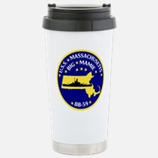 USS Massachusetts BB 59 Travel Mug