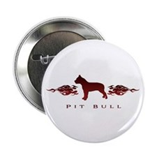 "Pit Bull Flames 2.25"" Button"