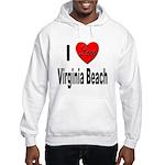 I Love Virginia Beach Hooded Sweatshirt