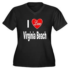 I Love Virginia Beach (Front) Women's Plus Size V-