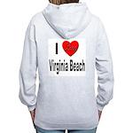 I Love Virginia Beach (Back) Women's Zip Hoodie