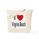 I Love Virginia Beach Tote Bag