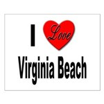 I Love Virginia Beach Small Poster