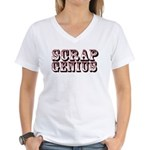 Scrap Genius Women's V-Neck T-Shirt