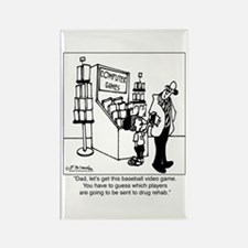 Baseball Drug Rehab Video Game Rectangle Magnet