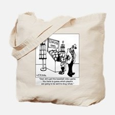 Baseball Drug Rehab Video Game Tote Bag