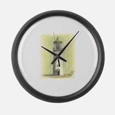 Green Light House Large Wall Clock
