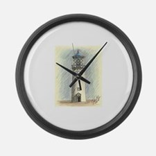 Blue Light house Large Wall Clock
