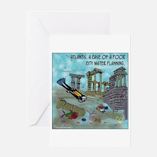 Atlantis Water Planning Greeting Card