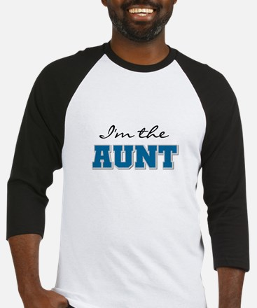 Blue I'm the Aunt Baseball Jersey