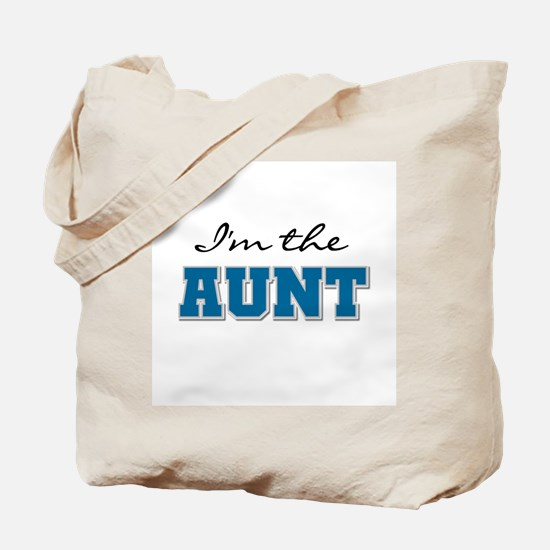 Blue I'm the Aunt Tote Bag
