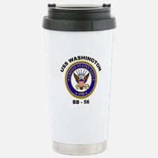USS Washington BB 56 Stainless Steel Travel Mug