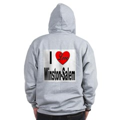 I Love Winston-Salem (Back) Zip Hoodie