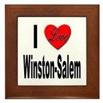 I Love Winston-Salem Framed Tile
