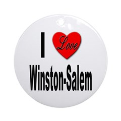I Love Winston-Salem Ornament (Round)