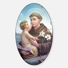 Saint Anthony 1 Oval Decal