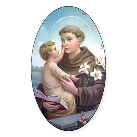 Saint Anthony 1 Oval Sticker