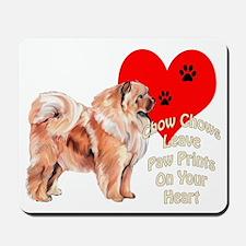 Chow Chow heart Mousepad