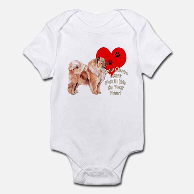 Chow Chow heart Infant Bodysuit