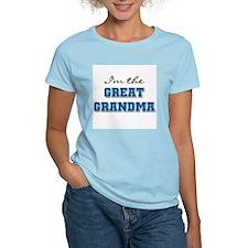 Blue I'm the Great Grandma T-Shirt