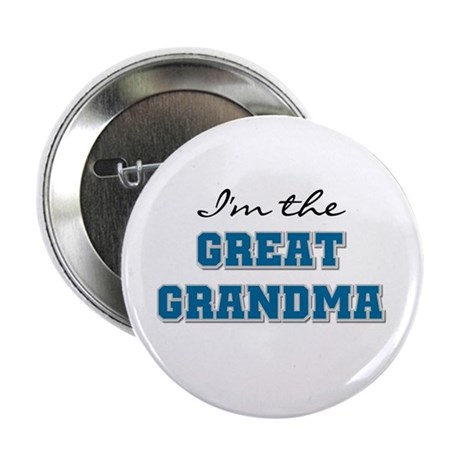 "Blue I'm the Great Grandma 2.25"" Button"