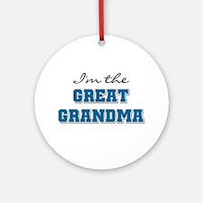 Blue I'm the Great Grandma Ornament (Round)