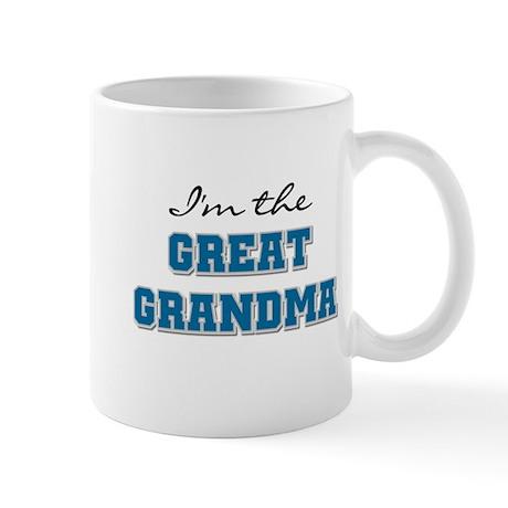 Blue I'm the Great Grandma Mug