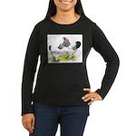 Light Brahma Pair Women's Long Sleeve Dark T-Shirt
