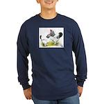 Light Brahma Pair Long Sleeve Dark T-Shirt