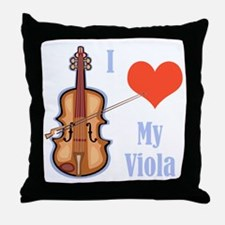 I Love My Viola Throw Pillow