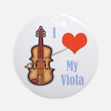 I Love My Viola Ornament (Round)