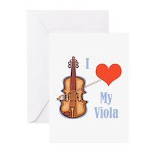 I Love My Viola Greeting Cards (Pk of 10)