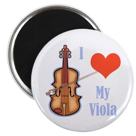 I Love My Viola Magnet