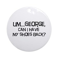 George Shoes Ornament (Round)