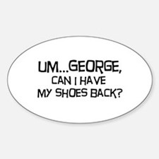 George Shoes Oval Decal