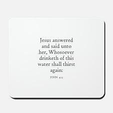 JOHN  4:13 Mousepad