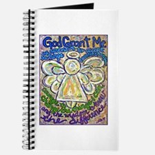 English Serenity Prayer Angel Journal