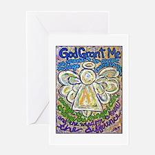English Serenity Prayer Angel Greeting Card