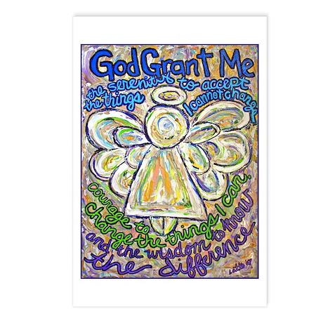 English Serenity Prayer Angel Postcards (Package o