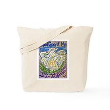 English Serenity Prayer Angel Tote Bag