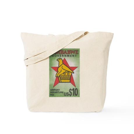 Zimbabwe airport tax stamp Tote Bag