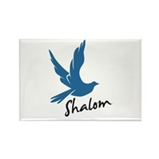 Shalom - Dove Rectangle Magnet