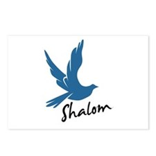 Shalom - Dove Postcards (Package of 8)