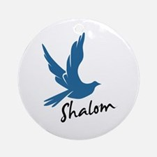Shalom - Dove Ornament (Round)