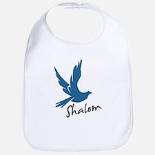 Shalom - Dove Bib
