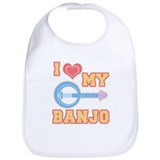 I Love My Banjo Bib
