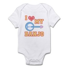 I Love My Banjo Infant Bodysuit