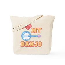 I Love My Banjo Tote Bag