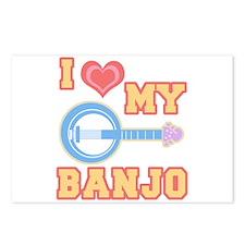 I Love My Banjo Postcards (Package of 8)