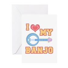 I Love My Banjo Greeting Cards (Pk of 10)